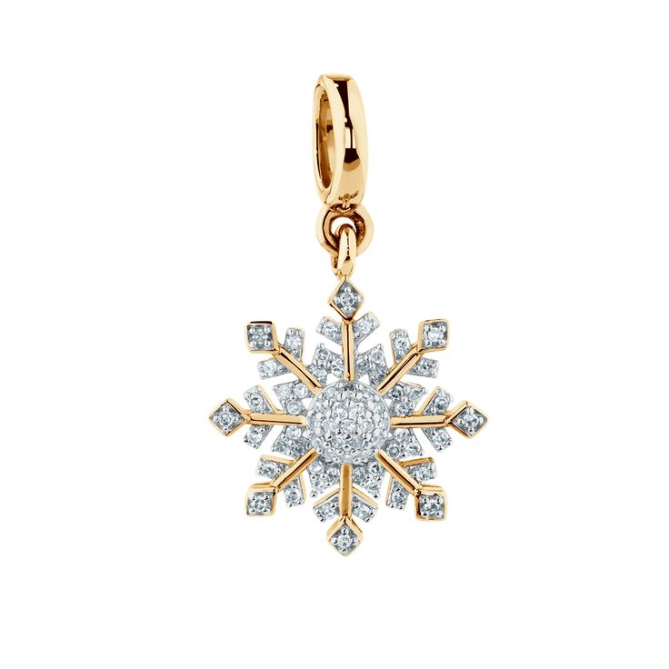 Diamond set 10ct gold charm. #emmaandroe #michaelhill. Available late November.