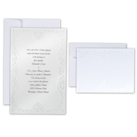 Lovely Luxe Hearts Printable Wedding Invitations Kit   Party City