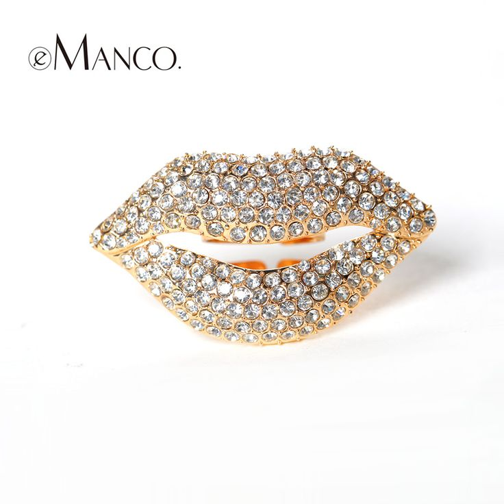 Симпатичные губы многоцветный кристаллы мода кольца eManco 2016 мода ювелирные изделия женщины марка симпатичные цинковый сплав кольца подарок на день рождения RG02365