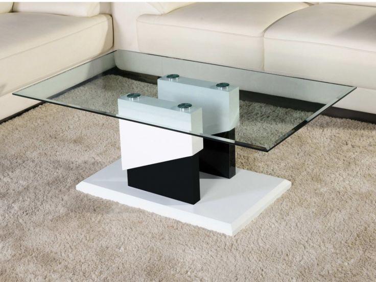 Meer dan 1000 idee n over table basse noir laqu op - Table basse blanche et noir ...