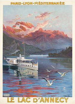 Le Lac d'Annecy, 1900   Hugo d'Alési Région Rhône Alpes Département : Haute-Savoie