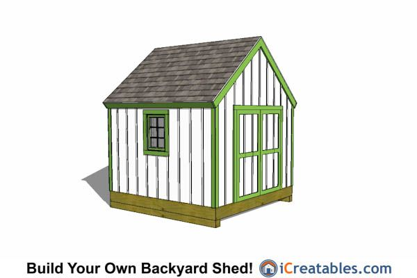 13 best 10x10 shed plans images on pinterest 10x10 shed for Barn style storage building plans