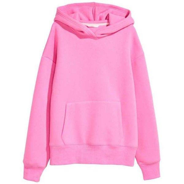 Huvtröjor Sweatshirts ❤ liked on Polyvore featuring tops, hoodies, sweatshirts, pink top and pink sweatshirts