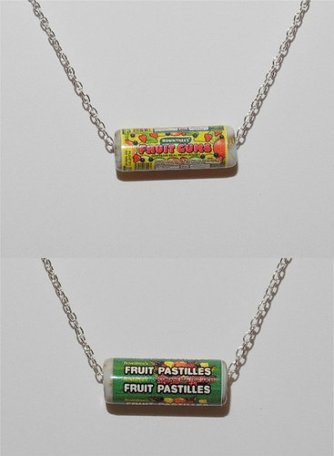 Rowntrees Fruit Pastilles/ Gums Sweets Junk Food necklace