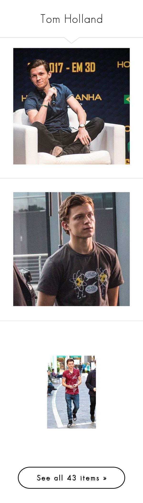 """""""Tom Holland"""" by dreambig98 ❤ liked on Polyvore featuring spiderman, pictures, marvel, superheroes, tom holland, jewelry and earrings"""