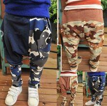 Skz-280, 5 unids/lote envío libre vendedor caliente de moda del muchacho de camuflaje pantalones del desgaste de los pantalones de algodón venta al por mayor(China (Mainland))