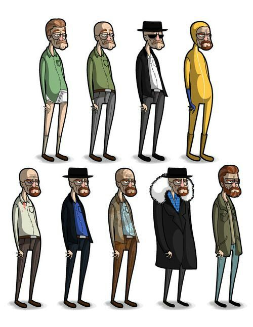 Progress chart of Walter White/Heisenberg                              …
