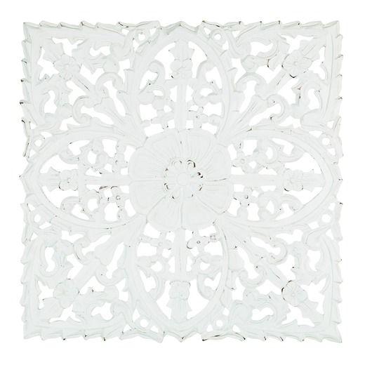 Väggdekor i trä - White Romantique