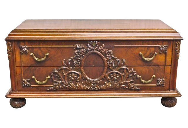 English Low Chest of Drawers