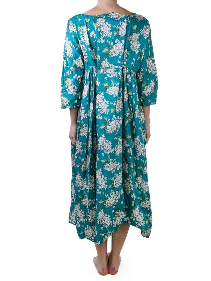 daniela gregis blue jasmin printed cotton dress railso com mode champ tre pinterest. Black Bedroom Furniture Sets. Home Design Ideas