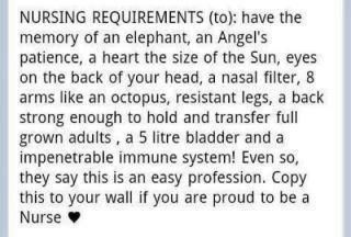 Nursing Requirments