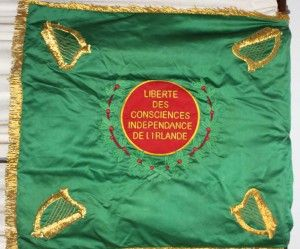 'Freedom of Conscience/ Independence of Ireland'—the Légion Irlandaise flag or 'colour'.