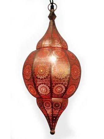 Orientalische Indische Deckenlampe Malha Kupferfarbig