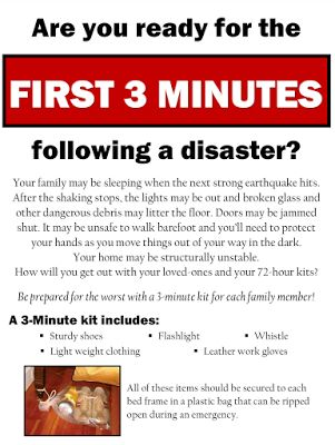 Prepared LDS Family: The Power of 3: An Emergency Preparedness Guide