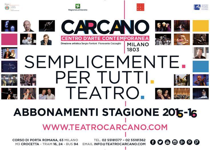 Manifesto istituzionale Teatro #Carcano, stagione 2015-2016