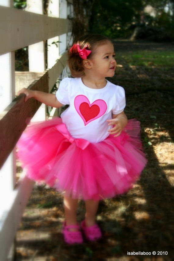 Pink Valentine Tutu Baby Tutu Skirt Toddler Tutu By TrinitysTutus