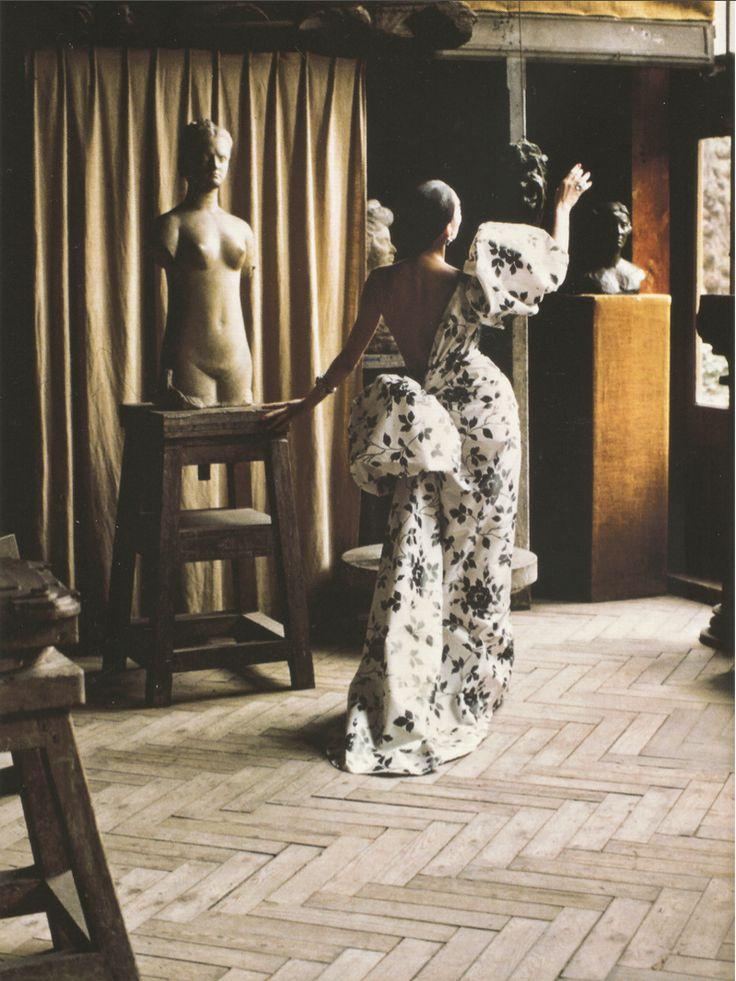 """robert-hadley: """"Ahn Duong in Yves Saint Laurent haute couture, S/S 1986. """""""