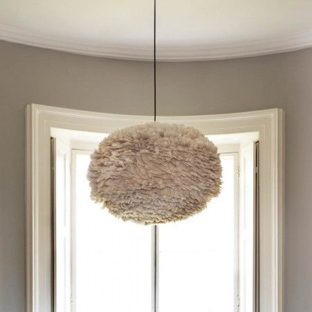Vita Eos Feather Pendant Shade in Light Brown *