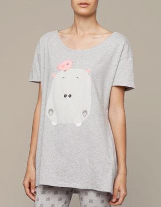 T-shirt hippopotame - Oysho