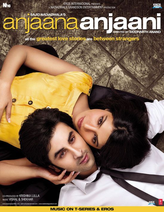 Anjaana Anjaani (2010) is about a guy and girl who are total strangers that set out in America and fall in love