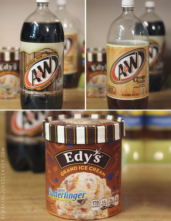 butterbeer float a&w rootbeer cream soda edys ice cream