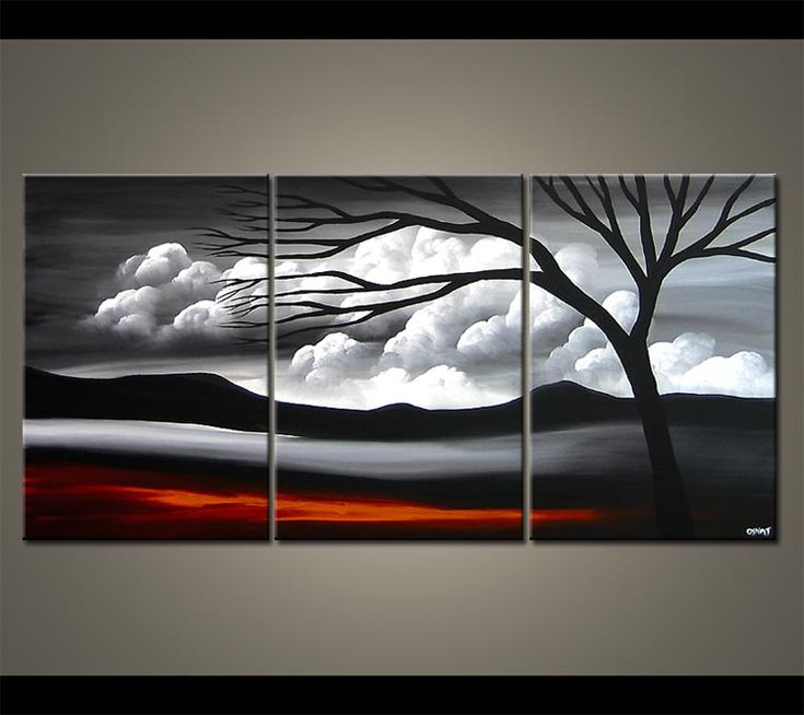 Modern Landscape Paintings for Sale - Decorative Fine Art by Osnat