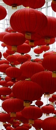 Des lanternes qui se prennent pour des méduses :) #red