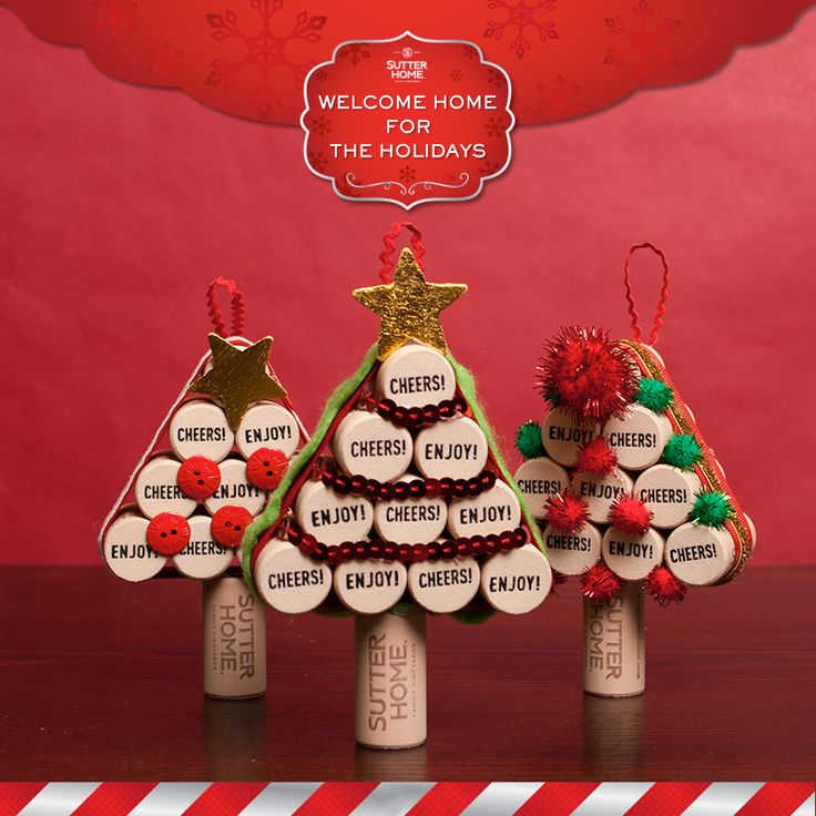 if youu0027ve been saving your sutter home wine corks weu0027ve got a simple and festive craft to ring in the season take those extra wine corks and turn them