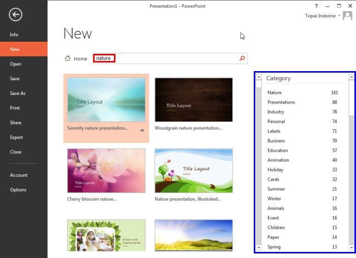 #Backstage View - New Option in #PowerPoint 2013 for Windows