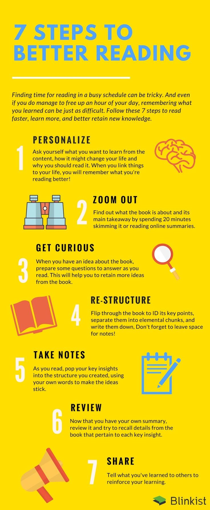 #infographic with tips to better #reading: personalize, get curious, take notes, share