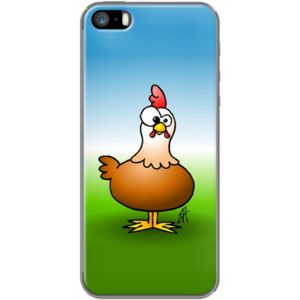 Chicken By CardVibes for Apple  iPhone 5/5s #TheKase #Cardvibes #Tekenaartje #iPhone #Smartphone #cover #case