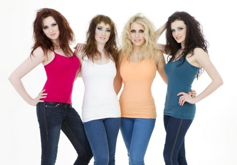 Statement Shoot - Models l-r Christina, Niamh, Fransceca and Lisa