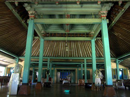 "The interior of Pendopo nDalem Mangkubumen, Keraton Surakarta (Solo)This is the interior of the ""Pendopo"" of nDalem Mangkubemen (which literally means the House of Prince Mangkubumi)."
