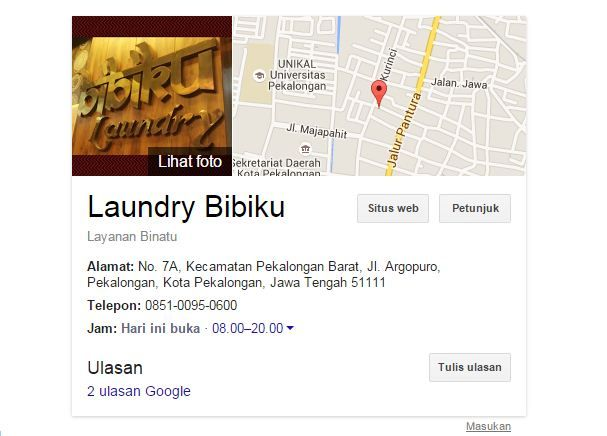 Cara mendaftarkan bisnis ke Google Bisnisku