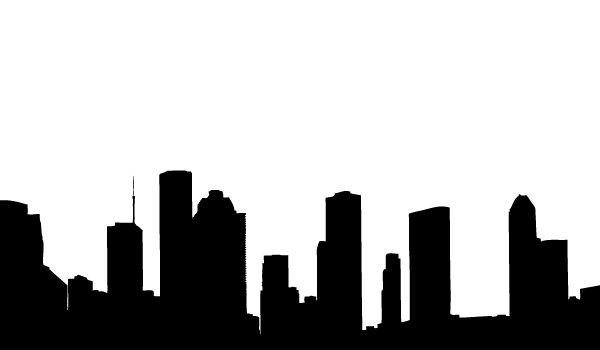Vector Houston Skyline Silhouettes Important Now