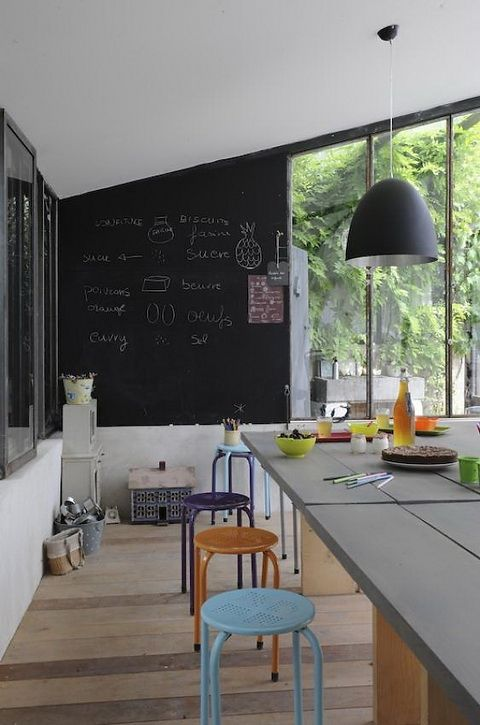 25 Amazing Chalkboard Wall Paint Ideas - Perfect for garage!