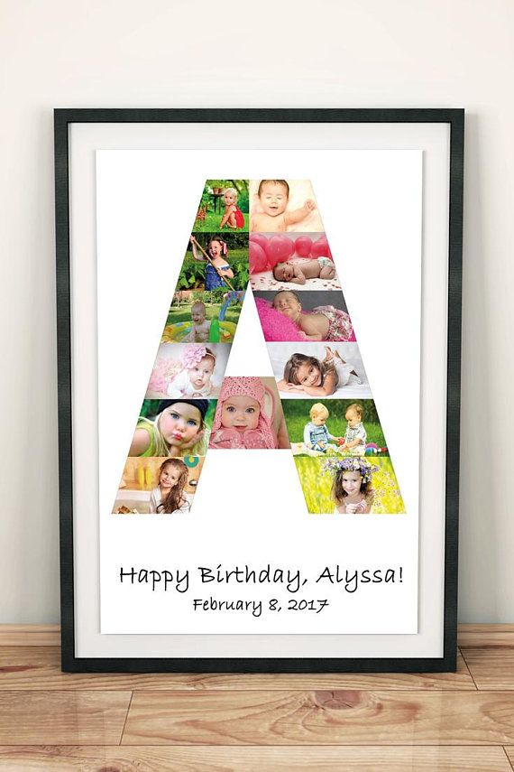 letter photo collage gift for aunt any letter gift for cousin letter collage gift for uncle letter photo collage gift for nephew letter numberwordname