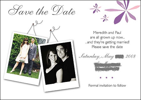 Our casual save-the-dates