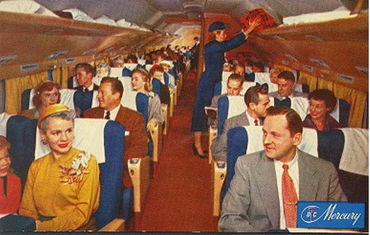 Douglas DC7 Cabin - (dresses and suits, times have changed!)
