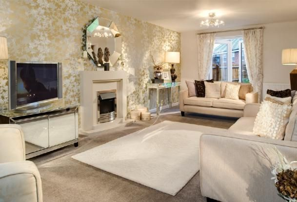 Cream and gold tones front room ideas pinterest for Front room designs
