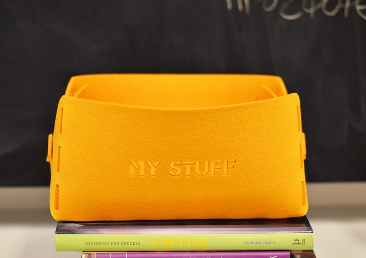 Felt storage box with your message on