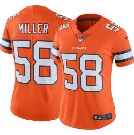Women's Color Rush 2016 Limited Jersey Denver Broncos Von Miller #58