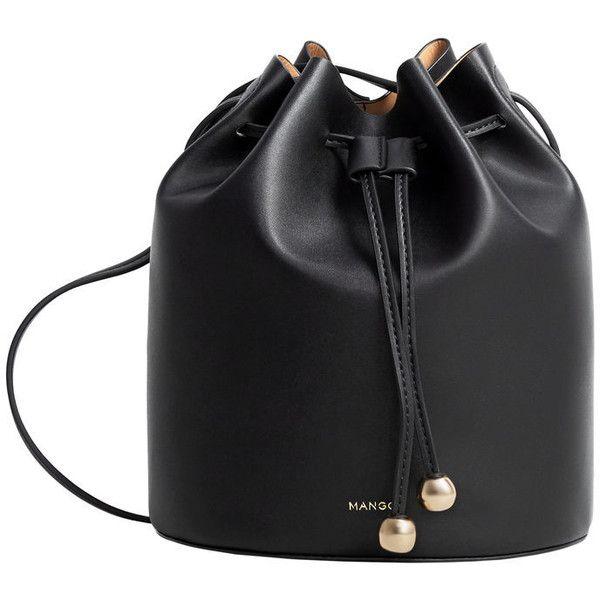 MANGO Bucket Bag ($40) ❤ liked on Polyvore featuring bags, handbags, shoulder bags, tassel bucket bag, mango handbags, bucket bag, strap purse and cross over purse