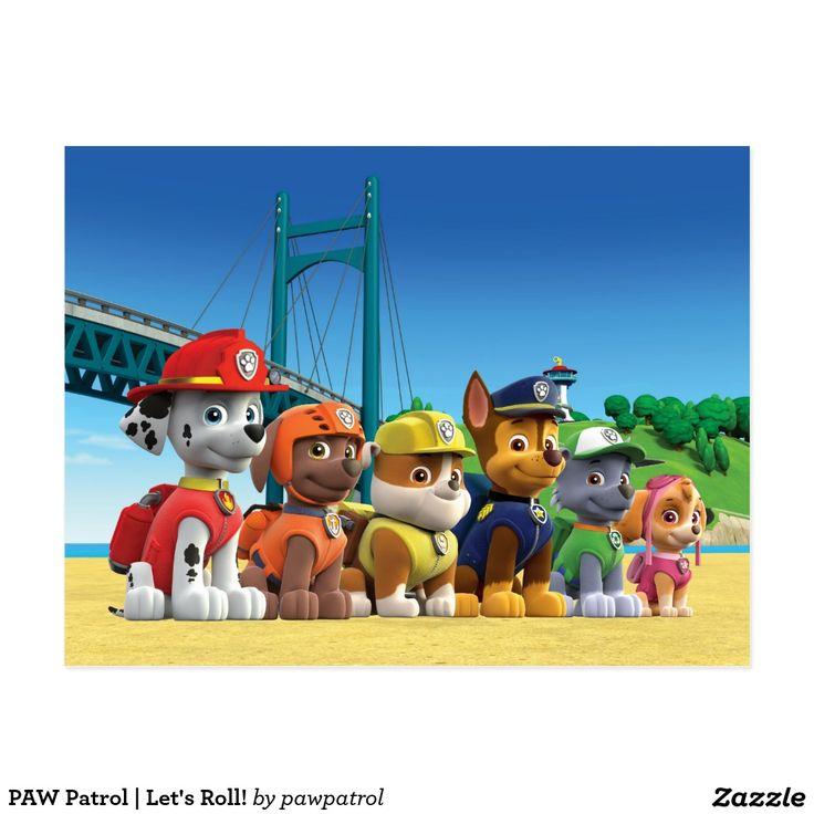 PAW Patrol | Let's Roll! Puppy, dog lover. Regalos, Gifts. #tarjeta #postal #postcard