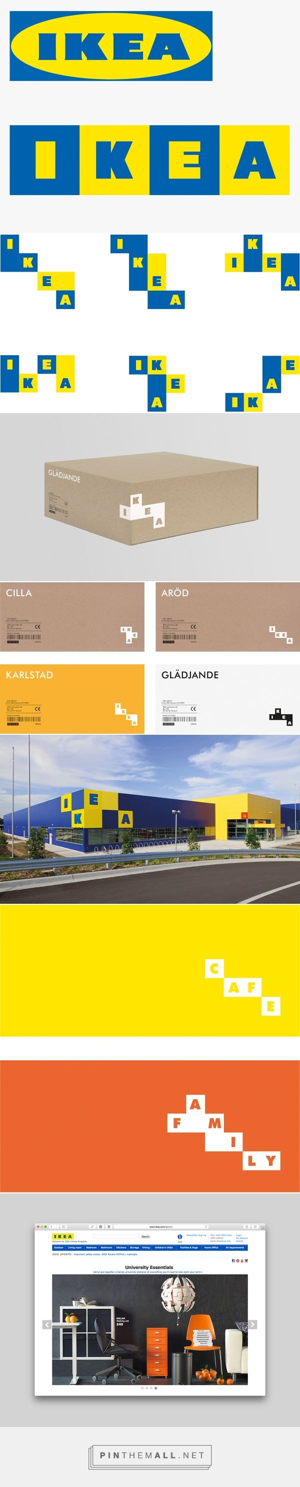Rethinking IKEA's logo on Behance - created via https://pinthemall.net