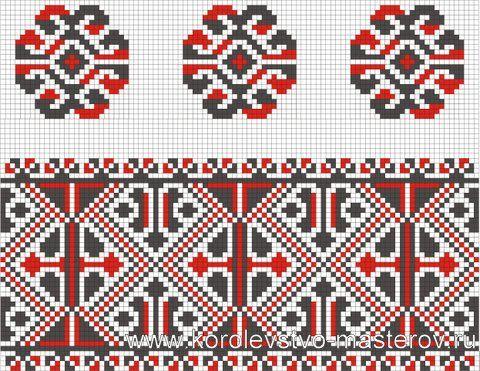 Схема украинской вышивки крестом. Орнамент вышивки Черкасской области