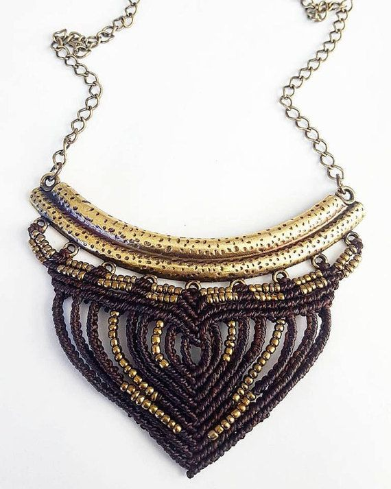 Check out this item in my Etsy shop https://www.etsy.com/listing/485466659/macrame-necklace