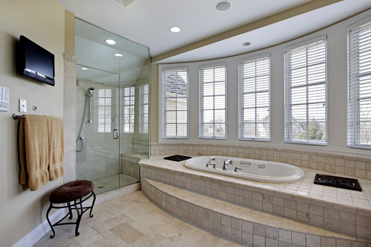 50 New Home Custom Luxury Bathroom Designs Soaking Tubs