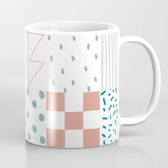 Basic Color Patterns Pattern Mug by Luisa Méndez | Society6