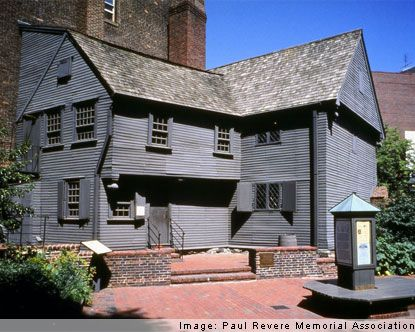 Built in 1680, Paul Revere House is the oldest wooden building still standing in Boston.  Home to Paul Revere from 1770 to 1800.